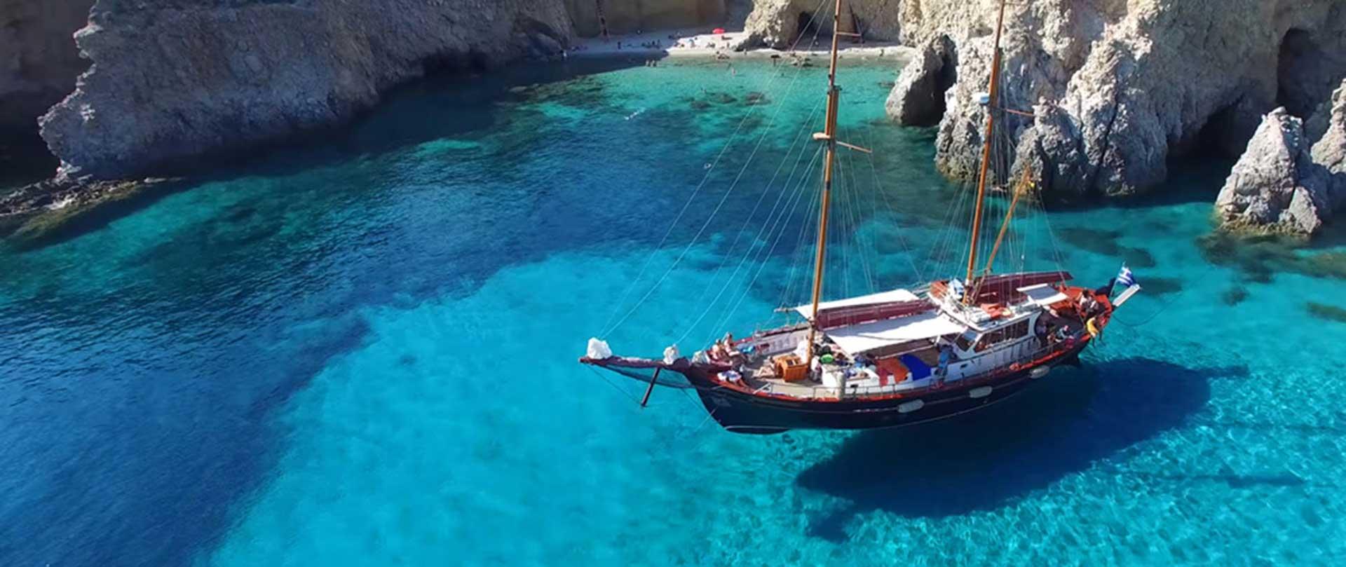 Milos Traditional Boat Tour – Thalassitra Cruise